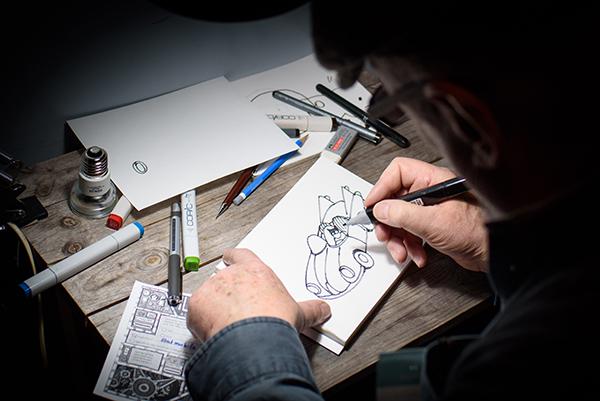 Ausstellung Illustre Gestalten 9. Darmstadt Centralstation, 11.02.2017. KEIN MODELRELEASE vorhanden. Foto: Andreas Reeg, andreas.reeg@t-online.de, www.andreasreeg.com, phone +49 171 544 92 47